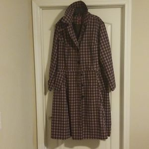 NWOT Checkered Look Jacket with Pockets
